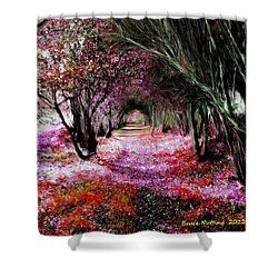 Spring Walk In The Park Shower Curtain by Bruce Nutting