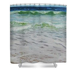 Spring Wave Shower Curtain