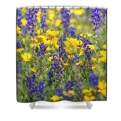 Spring Wildflower Bouquet  Shower Curtain by Saija  Lehtonen