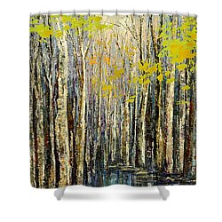 Shower Curtain featuring the painting Spring Wind by Tatiana Iliina