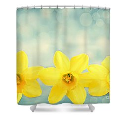 Spring Yellow Shower Curtain by Darren Fisher