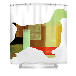 Springer Spaniel  Shower Curtain by Naxart Studio