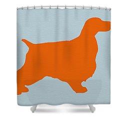 Springer Spaniel Orange Shower Curtain by Naxart Studio