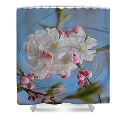 Springing Blossoms Shower Curtain by Sonali Gangane