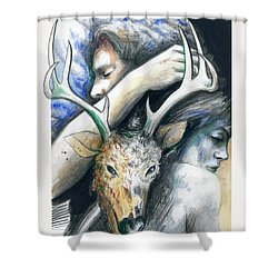 Springs Eternal Love Affair With The Ice Prince Shower Curtain