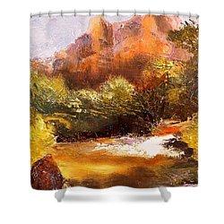 Springs In The Desert Shower Curtain by Gail Kirtz
