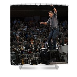 Springsteen In Motion Shower Curtain