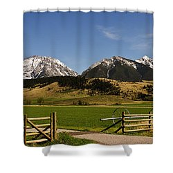 Shower Curtain featuring the photograph Springtime In Montana by Sue Smith