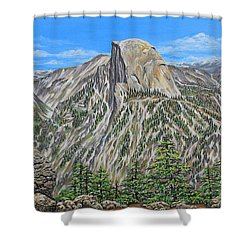 Springtime In Yosemite Valley Shower Curtain by Jane Girardot