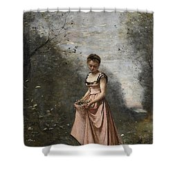 Springtime Of Life Shower Curtain by Jean Baptiste Camille Corot