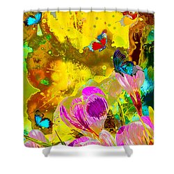 Springtime Splash Shower Curtain