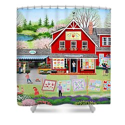 Springtime Wishes Shower Curtain by Wilfrido Limvalencia