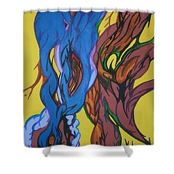 Sprouting Seed 1 Shower Curtain by Mary Mikawoz