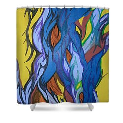 Sprouting Seed 2 Shower Curtain by Mary Mikawoz