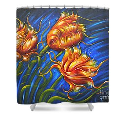 Shower Curtain featuring the painting Spulips by Sgn
