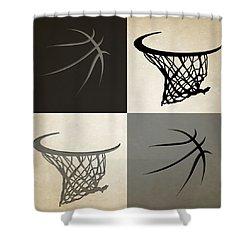 Spurs Ball And Hoop Shower Curtain