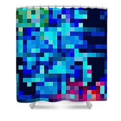 Square Blue Sky Shower Curtain