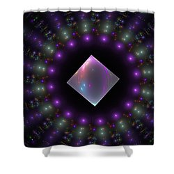 Square Peg Round Hole Shower Curtain by GJ Blackman