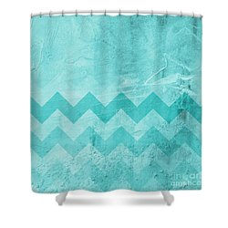 Square Series - Marine 1 Shower Curtain by Andrea Anderegg