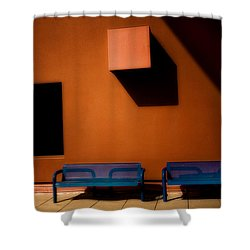 Square Shadows Shower Curtain