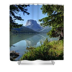 Squaretop Mountain - Wind River Range Shower Curtain