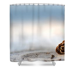 Squirrel Leftovers Shower Curtain by Lisa Knechtel