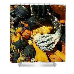 Shower Curtain featuring the photograph Squish Squash by Caryl J Bohn