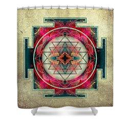 Sri Yantra  Shower Curtain by Filippo B
