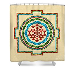 Sri Yantra Shower Curtain
