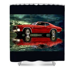 Chevelle 454 Shower Curtain by Steven Agius