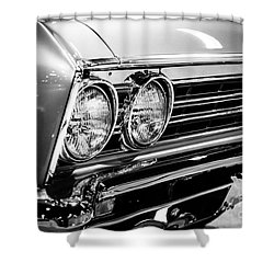 Ss396 Chevelle Black And White Picture Shower Curtain by Paul Velgos