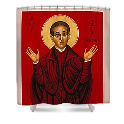 St. Aloysius In The Fire Of Prayer 020 Shower Curtain
