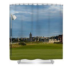 St Andrews Golf Shower Curtain by Jeremy Voisey