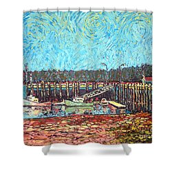 St Andrews Wharf Shower Curtain