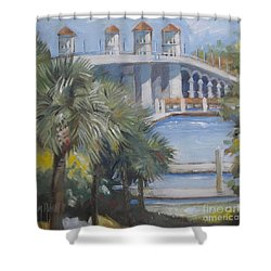 St Augustine Bridge Of Lions Shower Curtain
