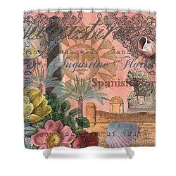 St. Augustine Florida Vintage Collage Shower Curtain
