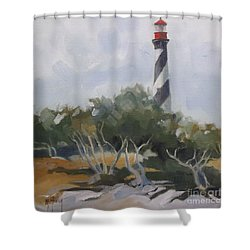 St Augustine Lighthouse First Light Shower Curtain