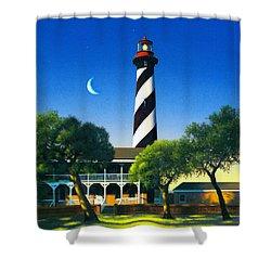 St Augustine Shower Curtain by MGL Studio - Chris Hiett