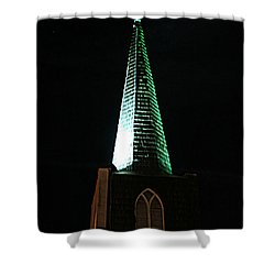St. Augustine Moon Christmas Card Shower Curtain
