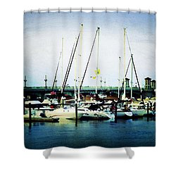 St. Augustine Sailboats Shower Curtain by Laurie Perry