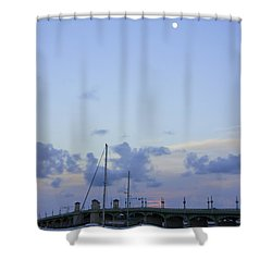 St. Augustine Sunset Shower Curtain by Laurie Perry