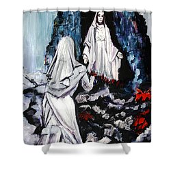St. Bernadette At The Grotto Shower Curtain