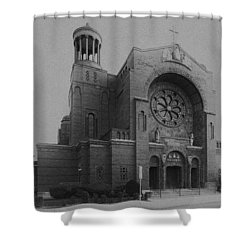 St Casimir's 10267 Shower Curtain by Guy Whiteley