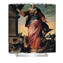 St Catherine Of Alexandria, 1570 - 1611 Shower Curtain by Il Sozzo