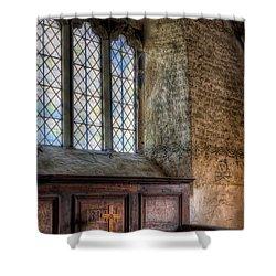 St Celynnin Church Shower Curtain by Adrian Evans