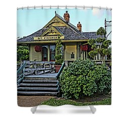 St Charles Station On The Katty Trail Look West Dsc00849 Shower Curtain