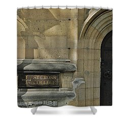 St. Cross College Shower Curtain by Joseph Yarbrough