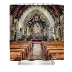 St Davids Church Shower Curtain by Adrian Evans