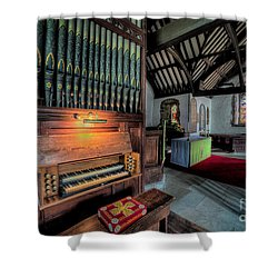 St Digains Church Shower Curtain by Adrian Evans