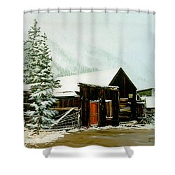St Elmo Snow Shower Curtain by Craig T Burgwardt